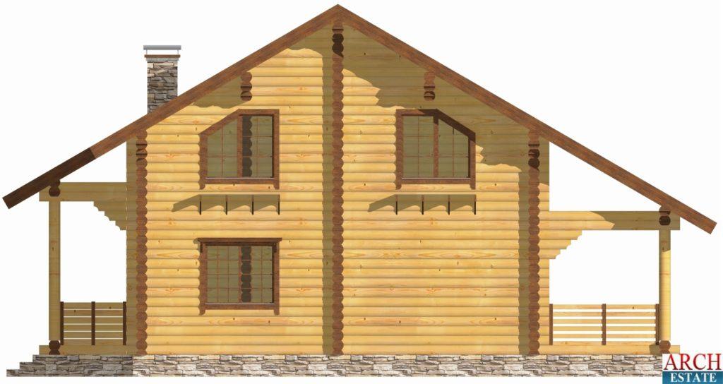Проект деревянного дуплекса D-386