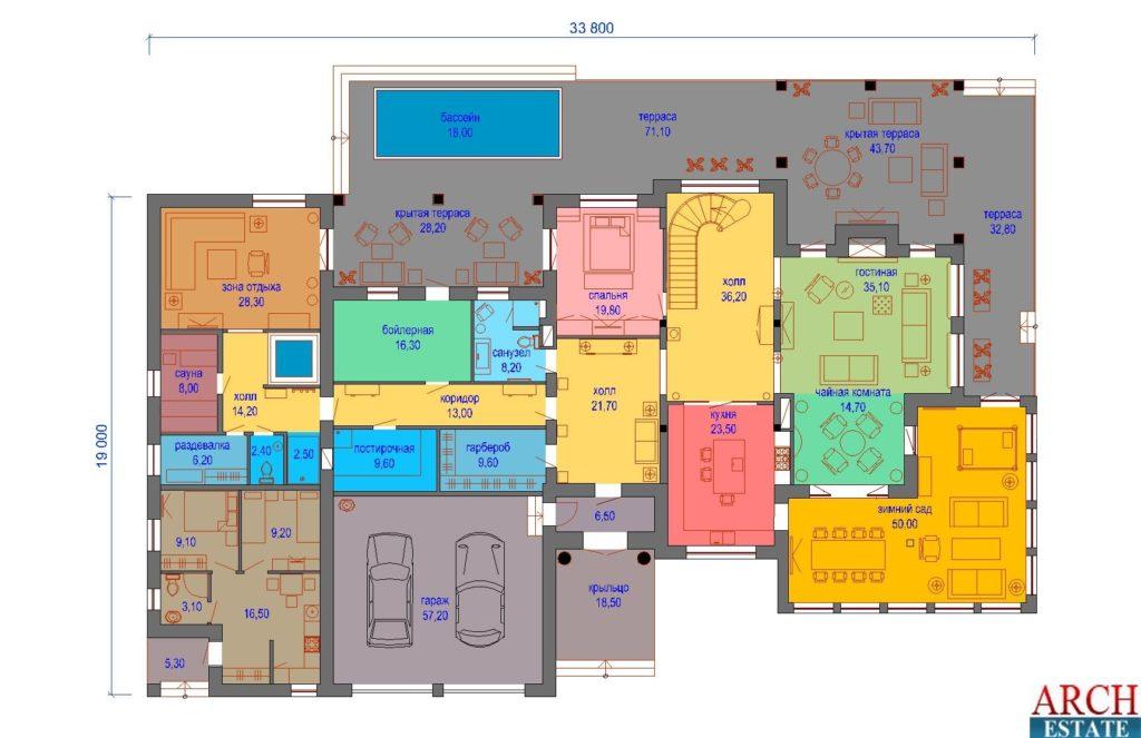 Проект загородного жилого дома E-950