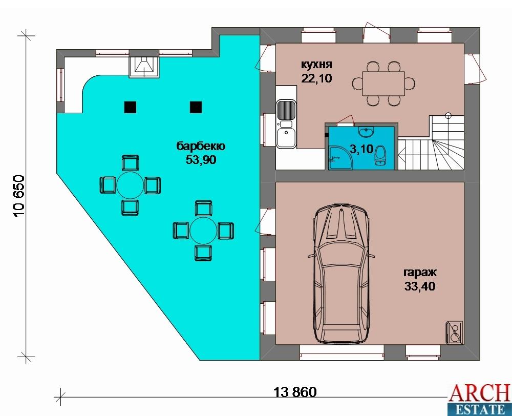 Проект гаража G-135