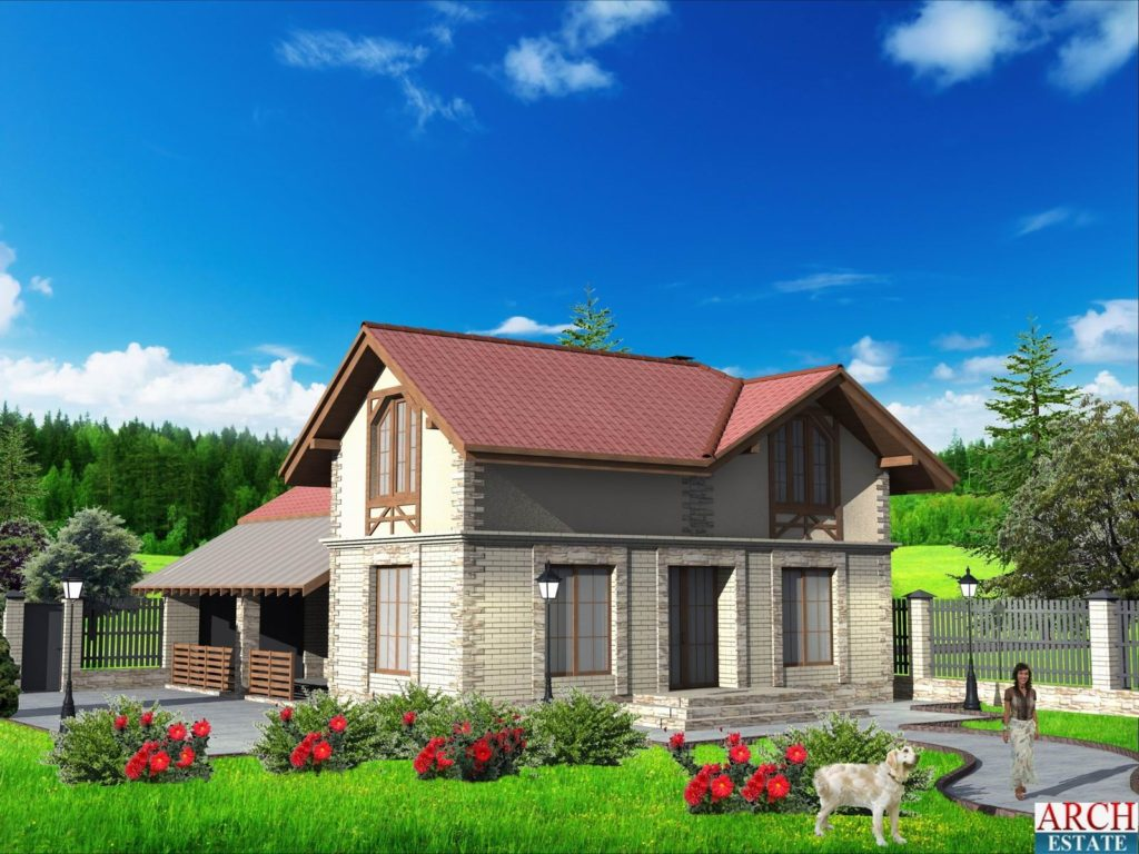 Проект гостевого дома G-220