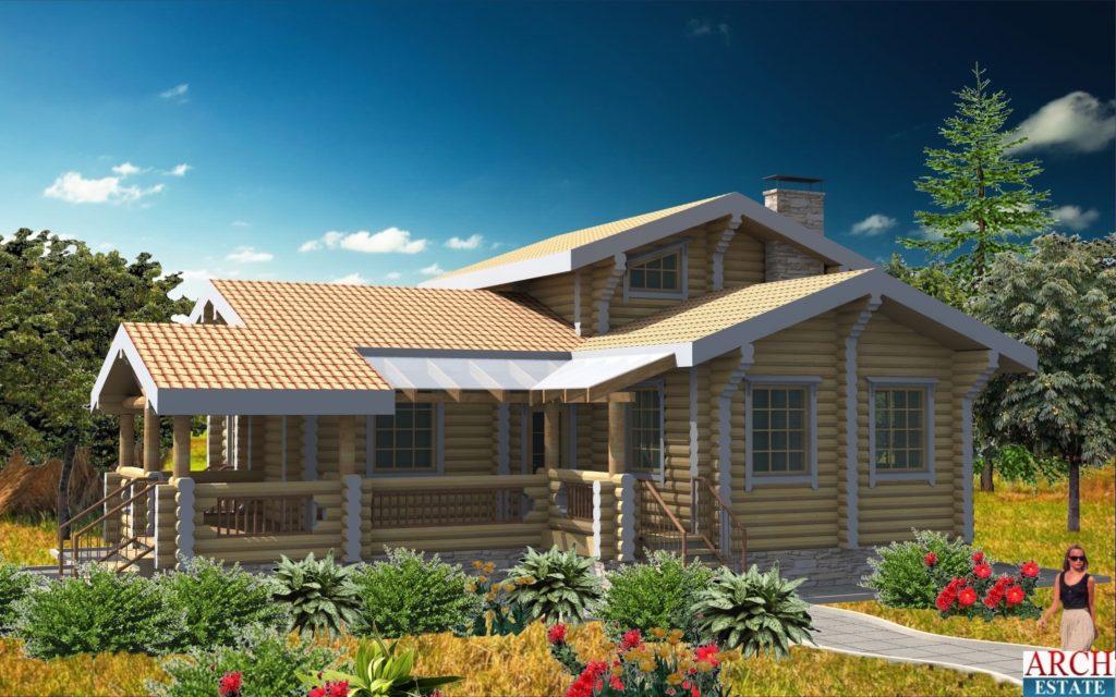 Проект деревянного дома W-112