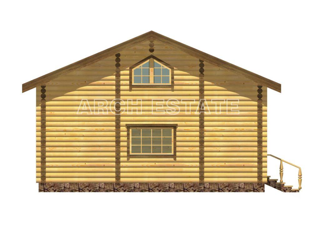 Проект деревянной бани WS-113