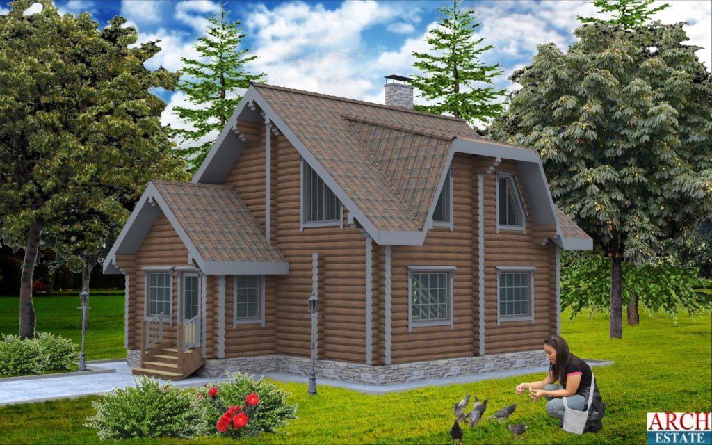 Проект деревянного дома W-115