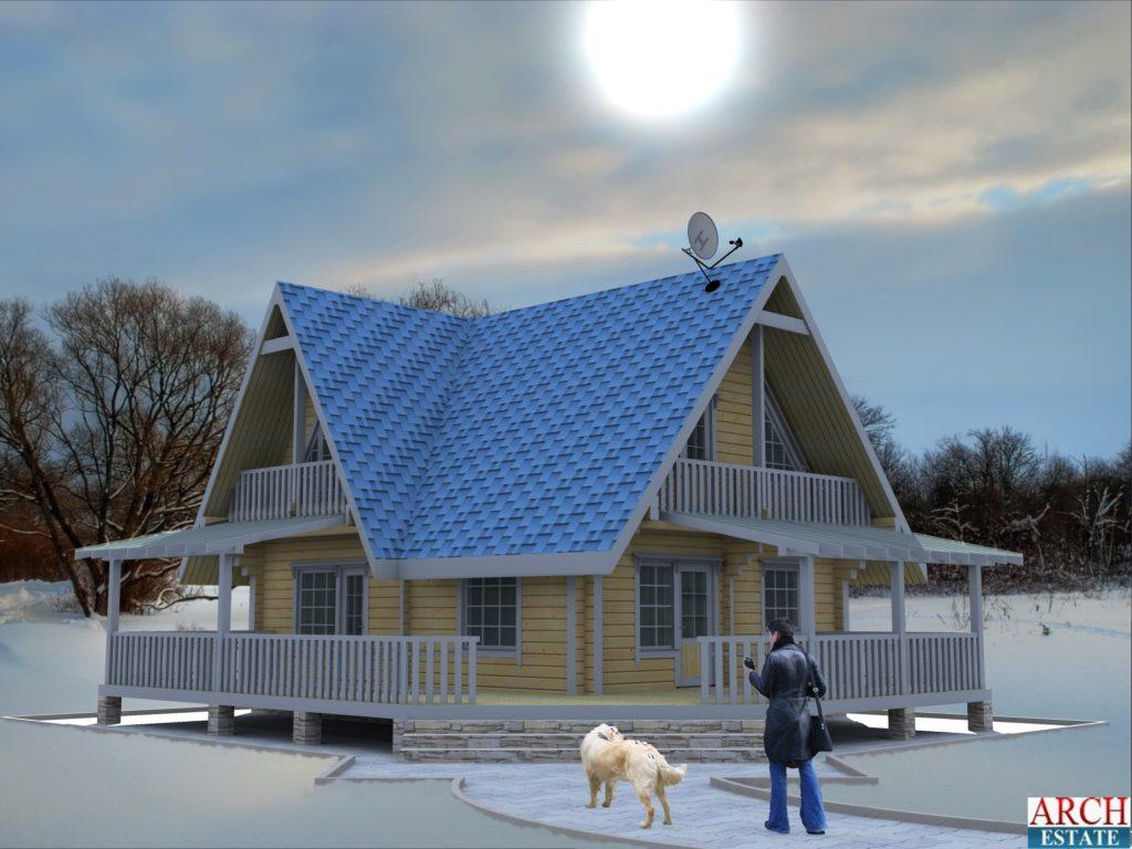 Проект деревянного дома W-128