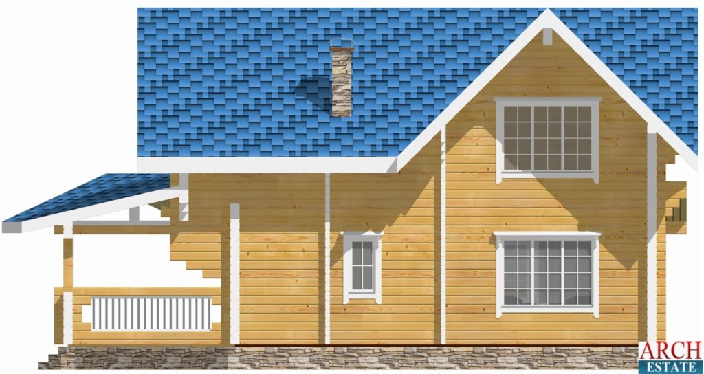 Проект деревянного дома W-141
