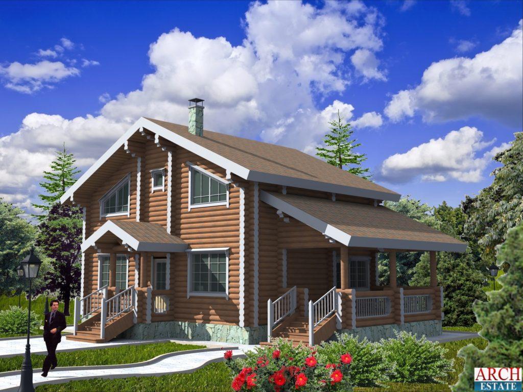 Проект деревянного дома W-143