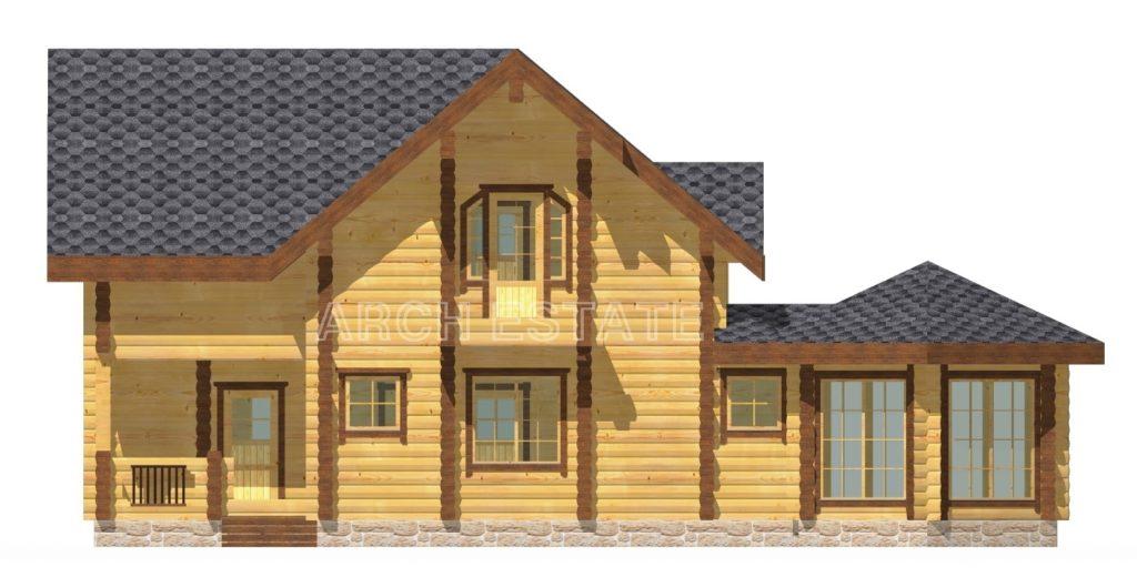 Проект деревянного дома W-170