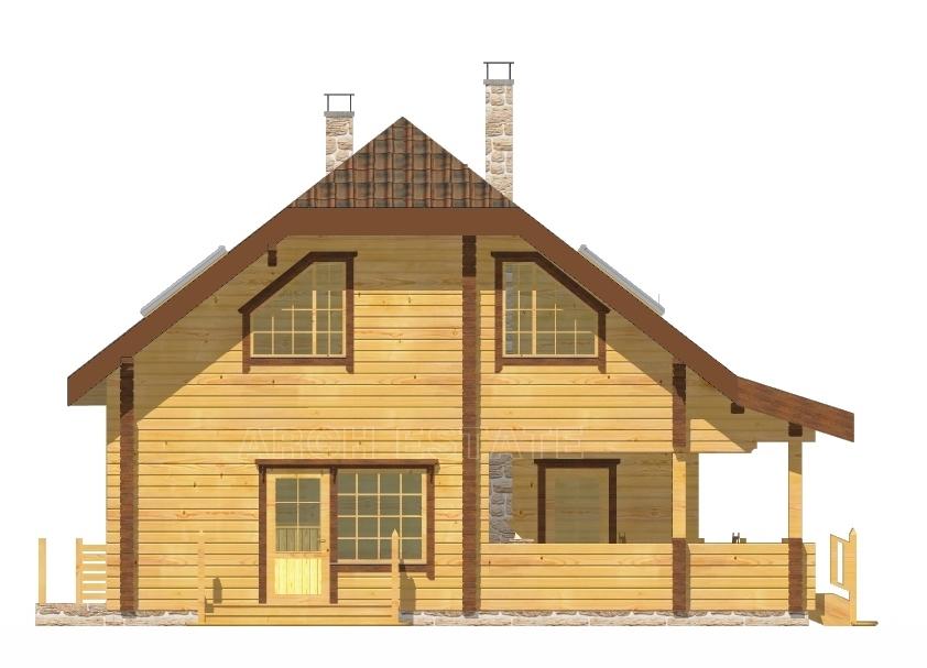 Проект деревянной бани WS-173B