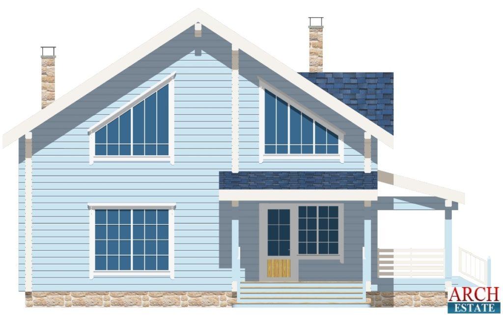 Проект деревянного дома W-180