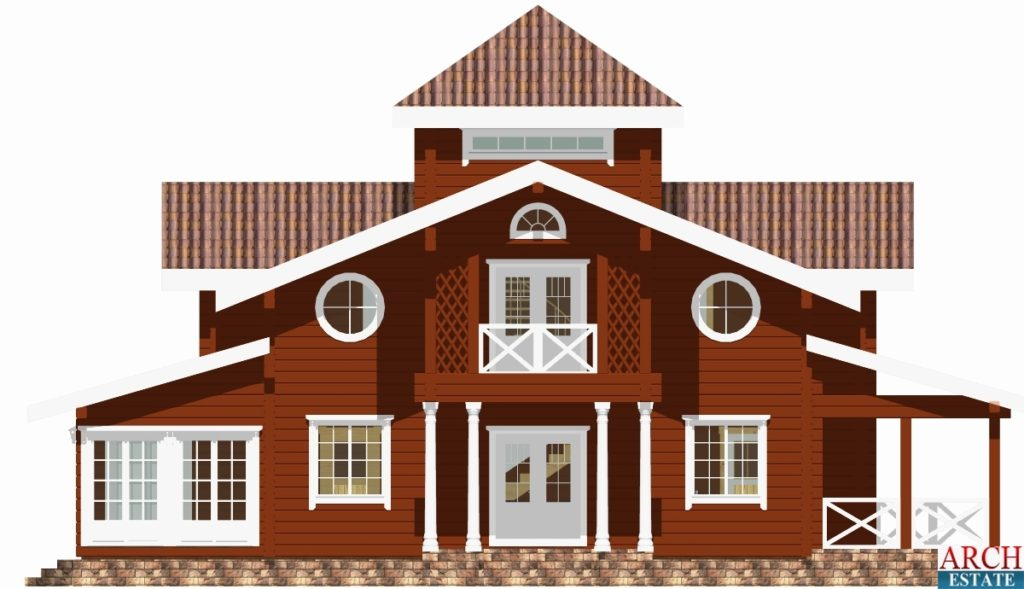 Проект деревянного дома W-207
