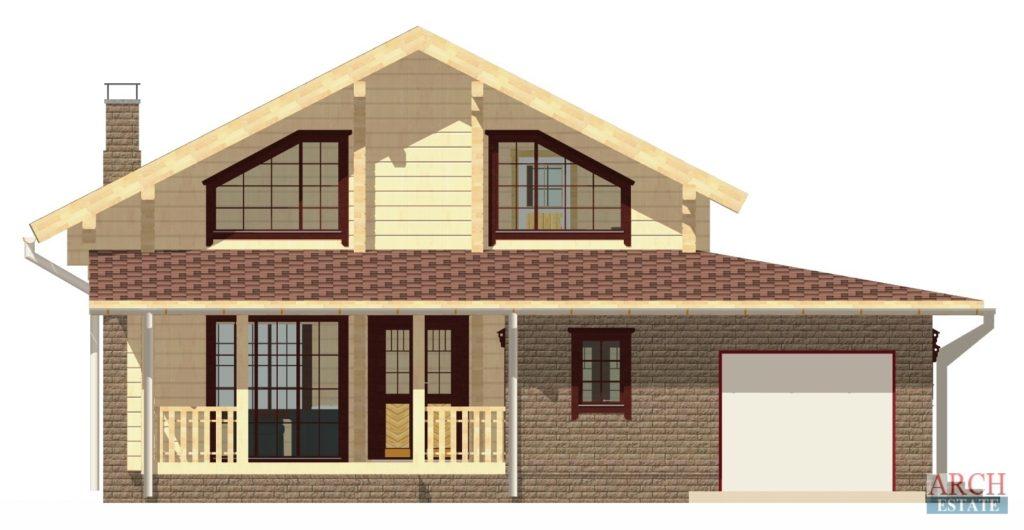 Проект деревянного дома W-224