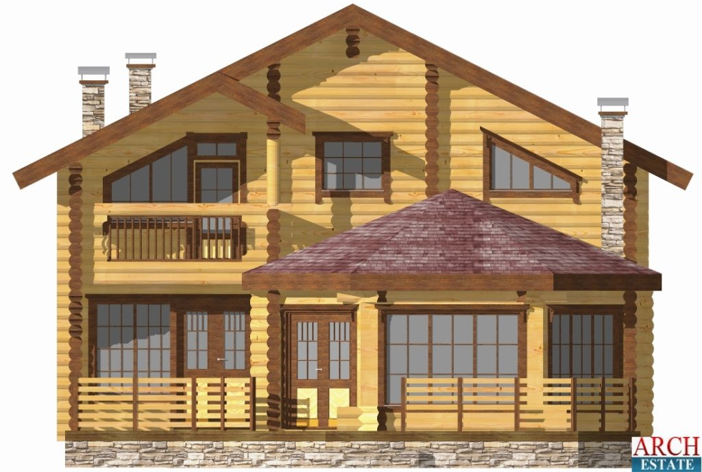 Проект деревянного дома W-226