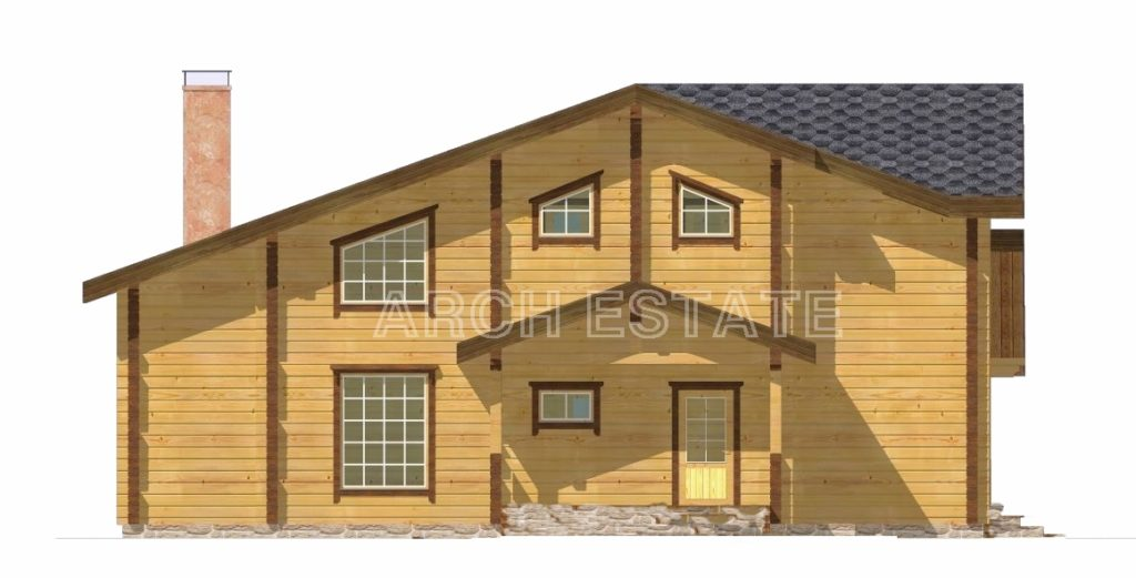 Проект деревянного дома W-278