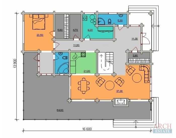 Проект деревянного дома W-294