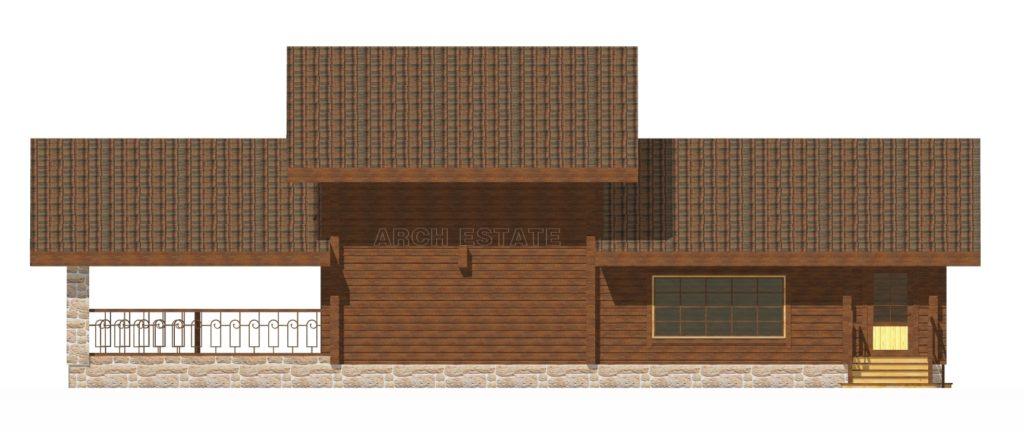 Проект деревянной бани WS-345