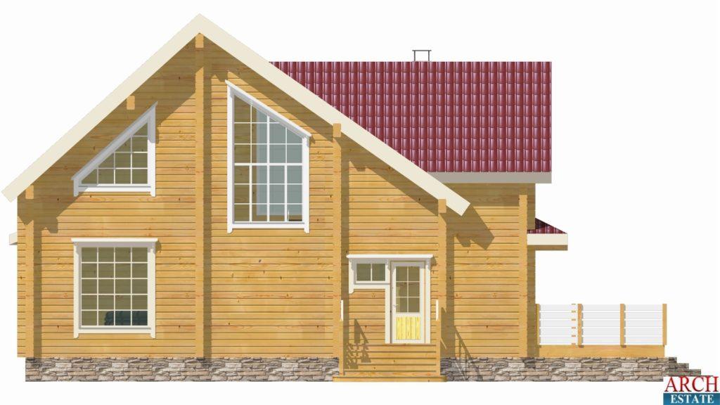 Проект деревянного дома W-373