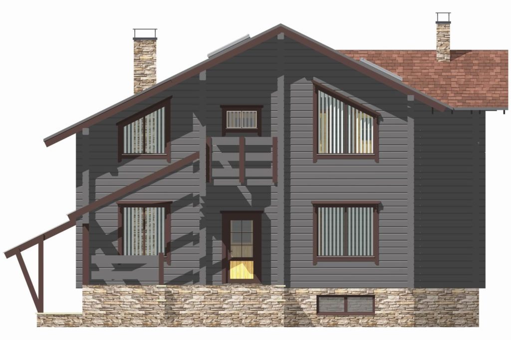 Проект деревянного дома W-383