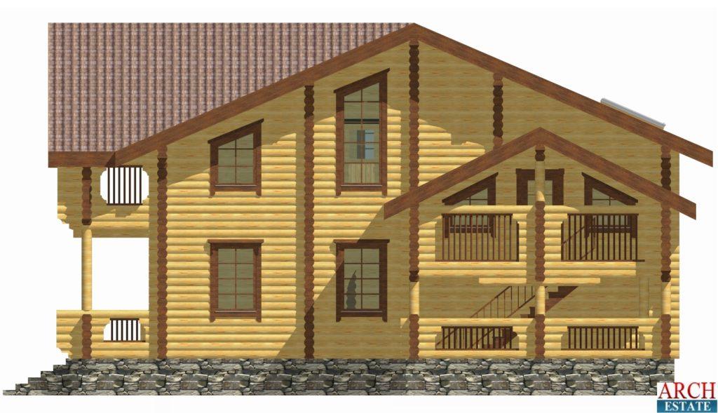 Проект деревянного дома W-470