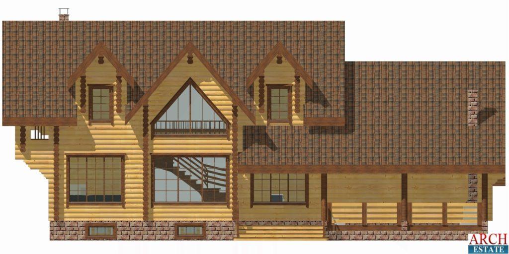 Проект деревянного дома W-488