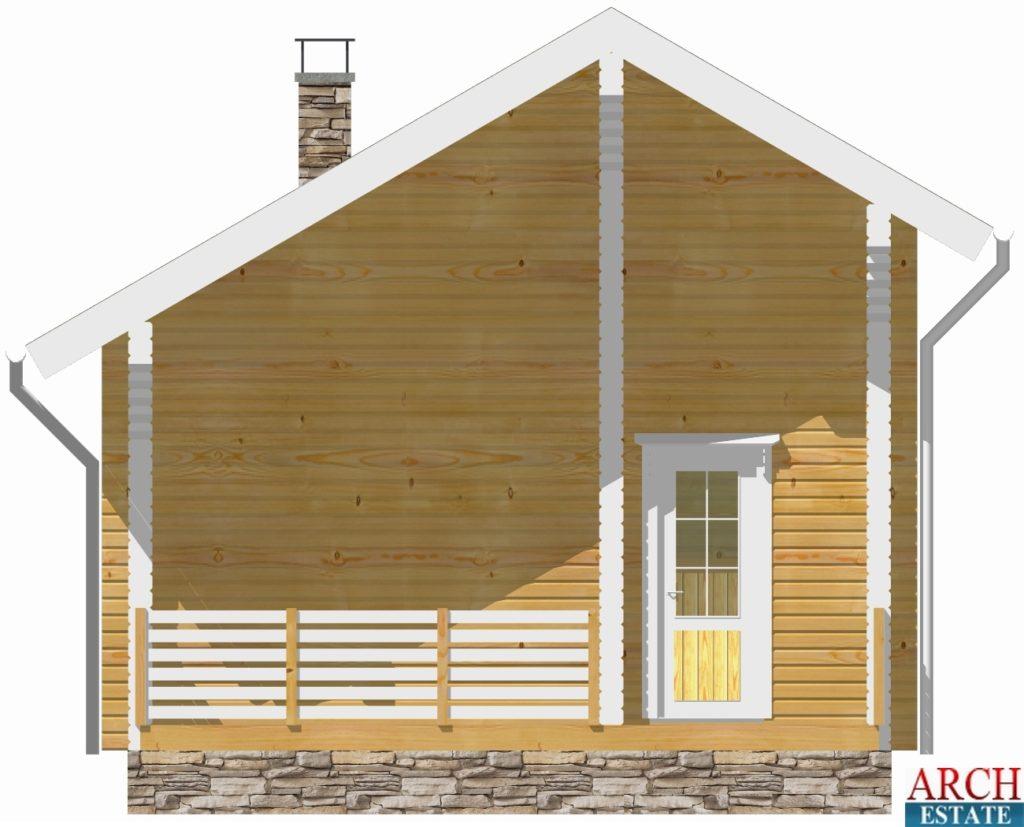 Проект деревянной бани WS-50