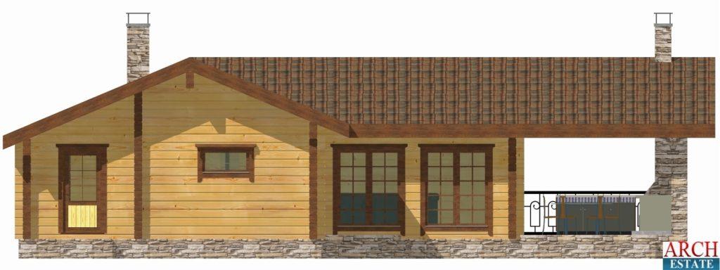 Проект деревянной бани WS-112