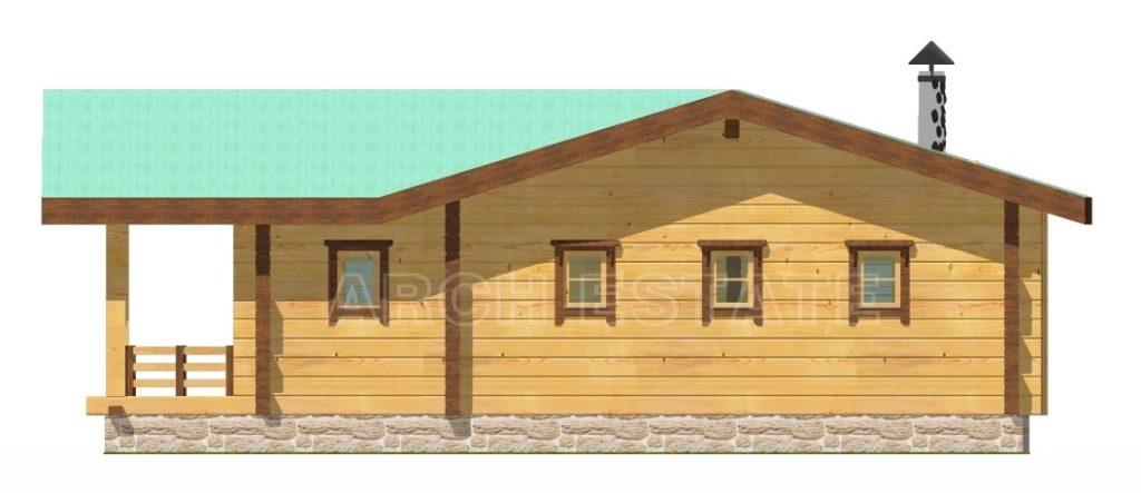 ект деревянной бани WS-136