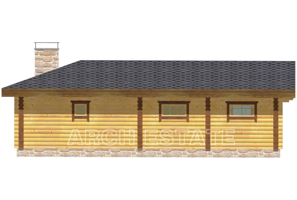 Проект деревянной бани WS-138