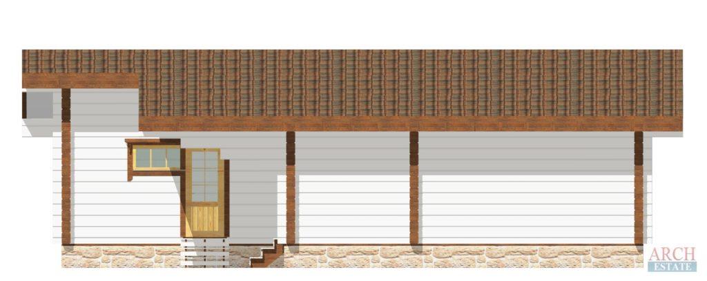 Проект деревянной бани WS-89
