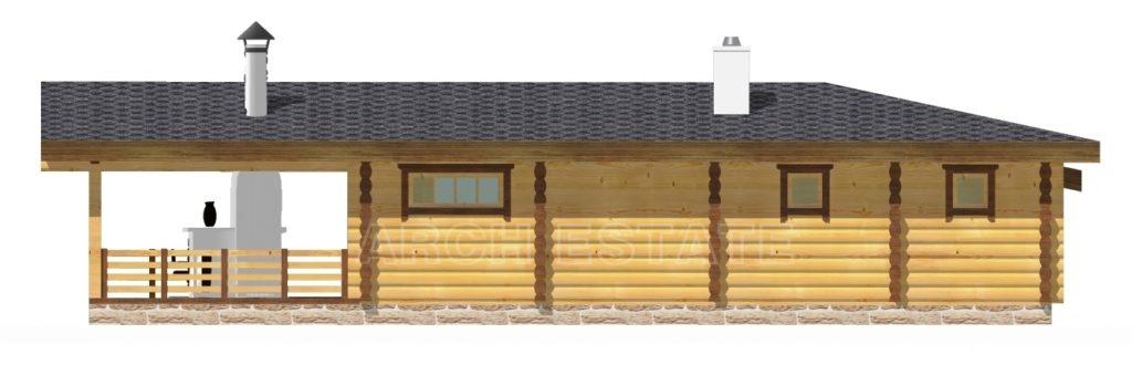 Проект деревянной бани WS-142