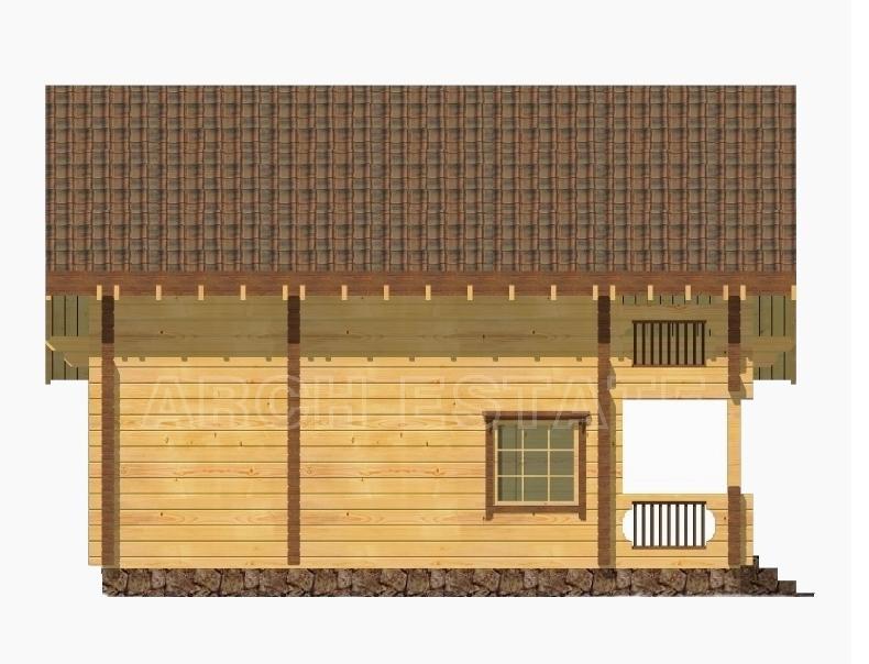 Проект деревянной бани WS-145