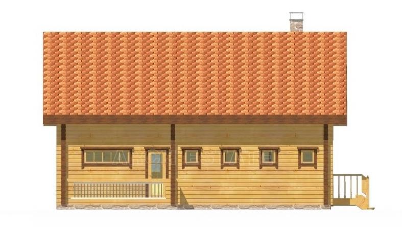 Проект деревянной бани WS-173