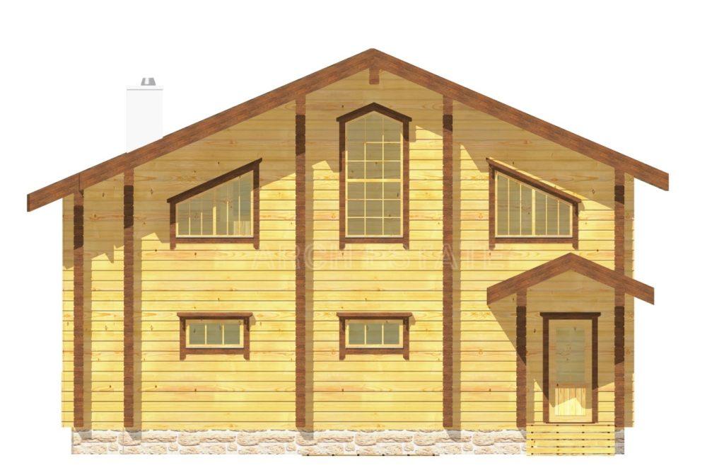 ект деревянной бани WS-198