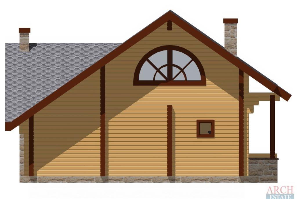 Проект деревянной бани WS-72