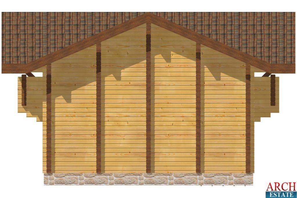 Проект деревянной бани WS-74
