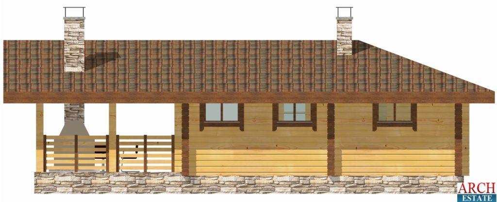 Проект деревянной бани WS-85