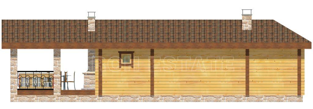 Проект деревянной бани WS-86