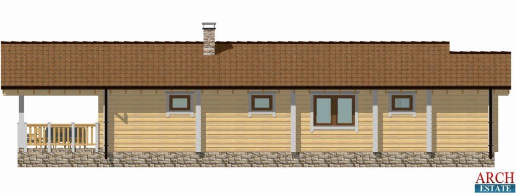 Проект деревянной бани WS-94